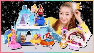 迪士尼城堡開箱!公主們的夏日冰雪派對!