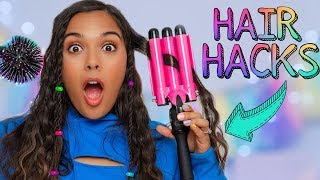 Testing Weird Hair Tools for LAZY PEOPLE! Quick & Easy Hairstyle Gadgets!