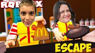 Roblox escape do McDonald ' s (escape McDonald ' s Obby) Gustavo jogos de TV