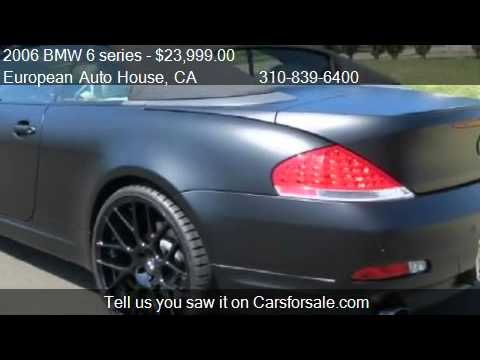 2006 bmw 6 series 650i convertible for sale in los. Black Bedroom Furniture Sets. Home Design Ideas