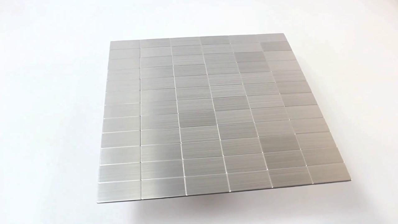 Küchenrückwand Mosaikfliesen Metall Selbstklebend Mikros Silber - Küchenrückwand mosaik fliesen