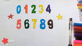 Colors for Children to Learn with Numbers from 0 to 9, Educational Videos