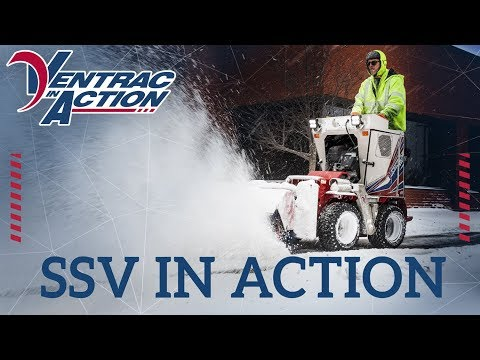 Clearing Sidewalks With Commercial Snow Machine