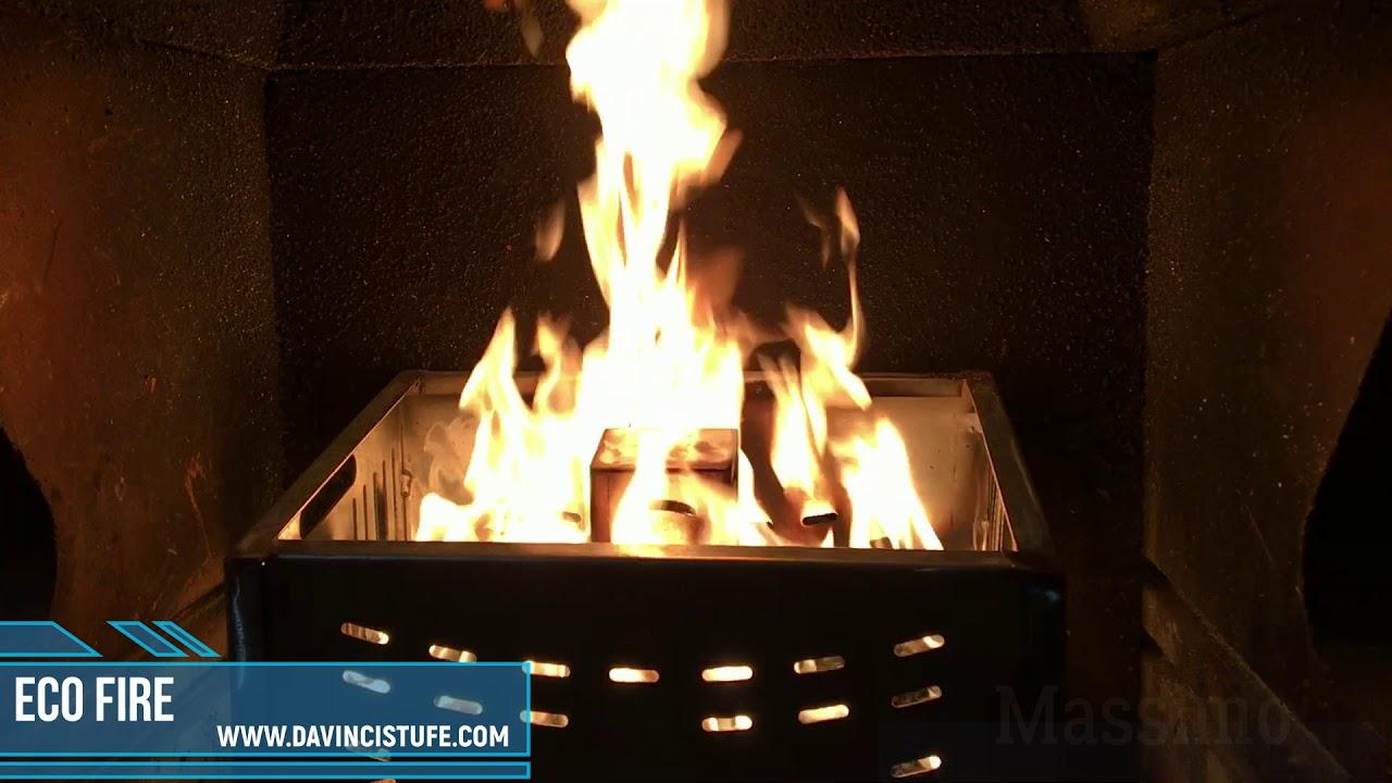 cesto brucia pellet ecofire new youtube