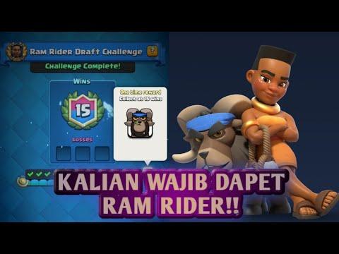 15-0 KARTU BARU KEREN BANGET !! RAM RIDER CHALLANGE - Clash Royale Indonesia