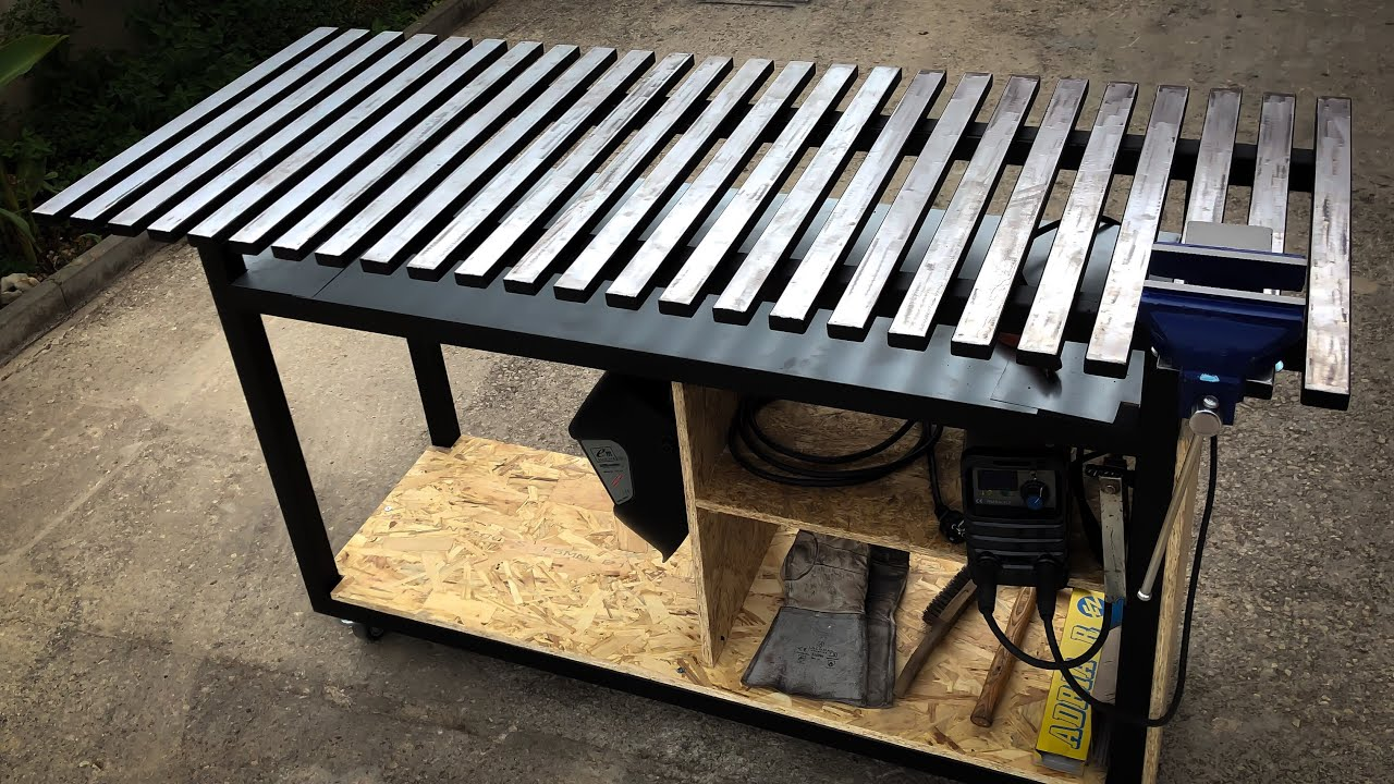 How To Make Welding Table - YouTube