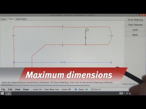 Laser Templator - Maximum Dimensions