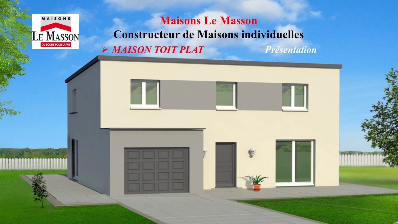 pr sentation maison toit plat maisons le masson rouen youtube. Black Bedroom Furniture Sets. Home Design Ideas