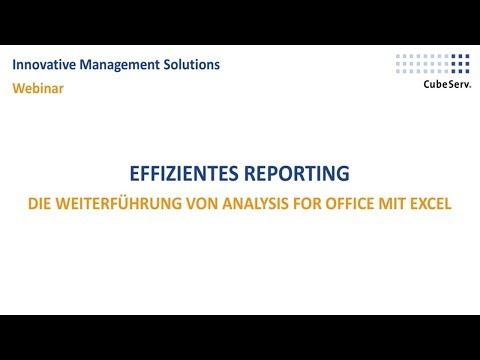 Webinar: Effizientes Reporting - Die Weiterführung von Analysis for Office mit Excel