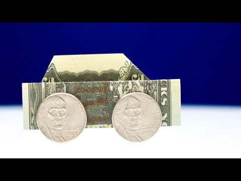 Dollar Origami Car 🚗 How To Easily Fold A Car Out Of Money