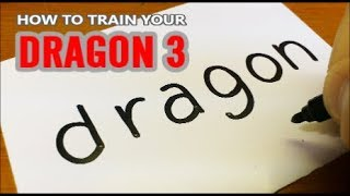 How to turn words DRAGON(HOW TO TRAIN YOUR DRAGON 3)into a Cartoon for kids