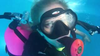 @trinamason scuba diving in the pool