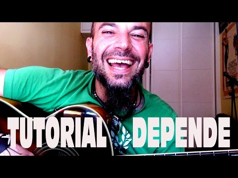 Como tocar DEPENDE de JARABE DE PALO; Tutorial GUITARRA FACIL