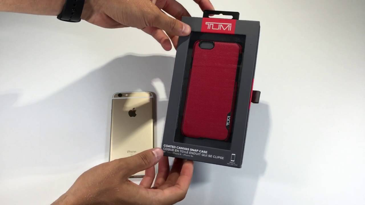 super popular 43129 e91be Red Tumi Leather Case Unboxing (iphone6s)