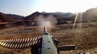 M2 .50 Cal Machine Gun Fire • U.S. Marines Training