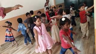 Yoga session for LKG kids.Smart kids Play School.