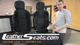 Nissan 370Z Black Custom Leather Interior Seat Cover / Upholstery package - LeatherSeats.com