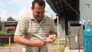 Пошаговая инструкция для работы газовым резаком.