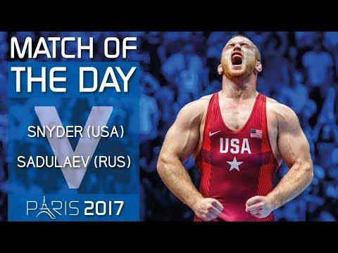 GOLD FS - 97 kg: K. SNYDER (USA) df. A. SADULAEV (RUS) by VPO1, 6-5