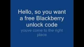 Free Blackberry Unlocking
