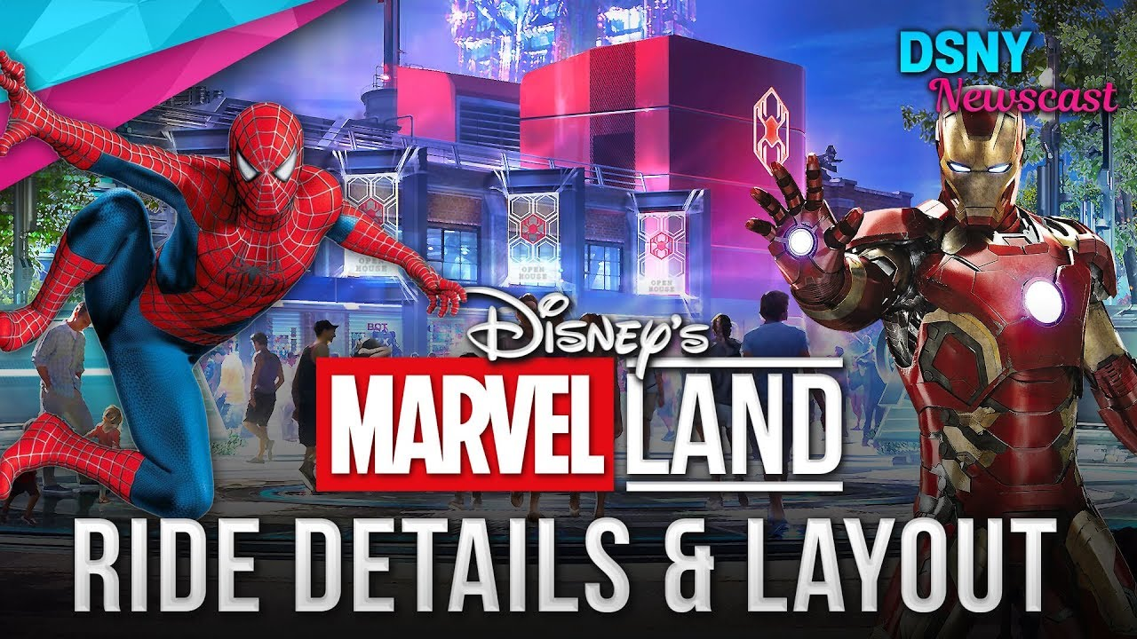 Disney S Marvel Land Ride Layout Details For Disneyland And