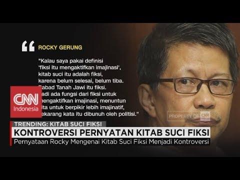Kontroversi Pernyataan Kitab Suci Fiksi Rocky Gerung