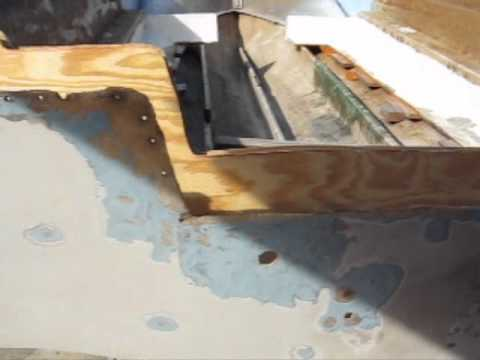 Cutting the new transom.wmv