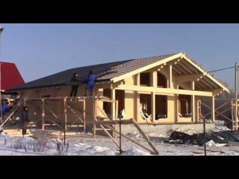 Строительство одноэтажного дома из клееного бруса в зиму