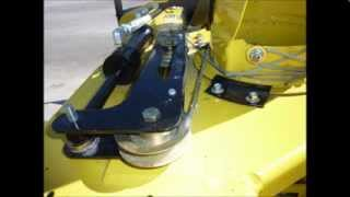 John Deere 54 Inch Snow Blower Chute Rotation and Deflector Modifications