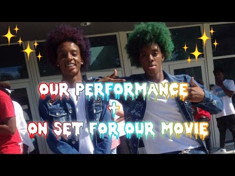 Our Performance day 😤🔥🔥+ sneak peak on set of our movie 👸