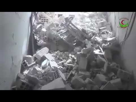 Damascus suburbs- Hamouriya: destruction of medical point in Russian warplanes shelling P2, 1 5 2017
