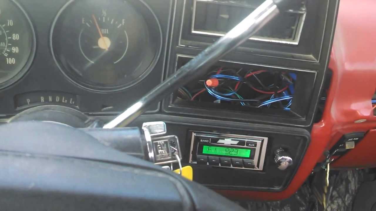 79 chevy c10 scottsdale update new speakers fixed radio youtube [ 1280 x 720 Pixel ]