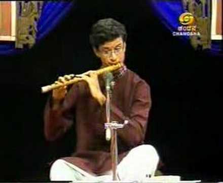 Carnatic Flute - Tejasvi Raghunath Playing for Doordarshan