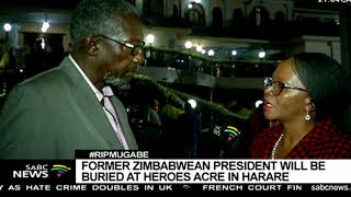 Former Zimbabwean leader will not be buried on Sunday