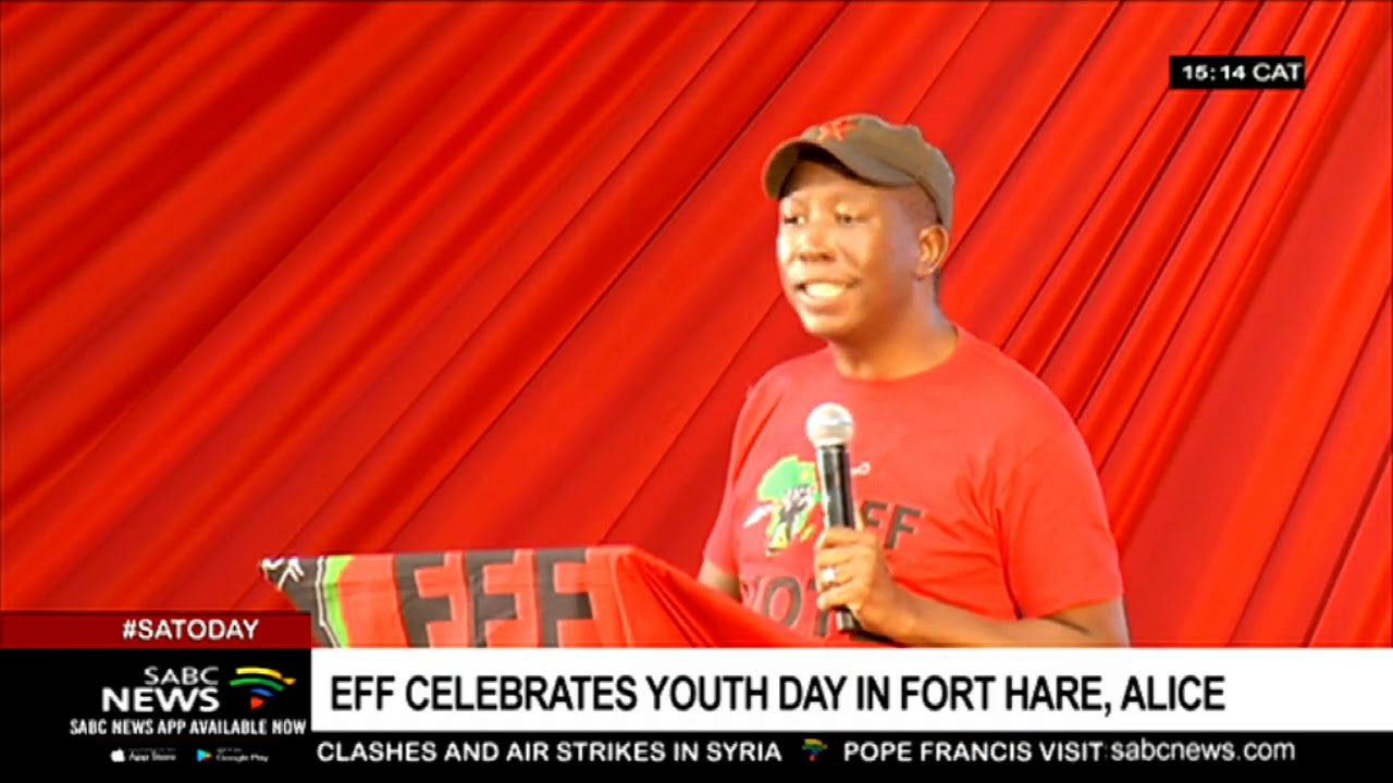 Malema addresses Youth Day celebrations at University of Fort Hare