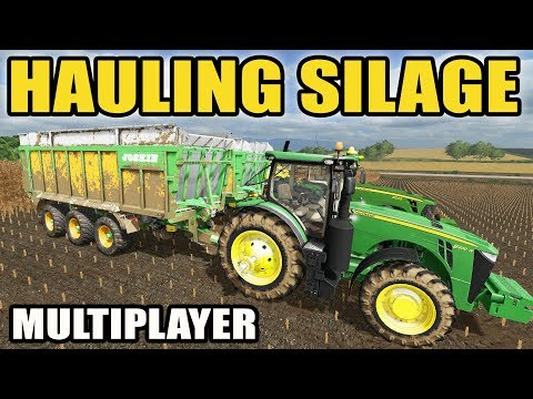 FARMING SIMULATOR 2017 | BRINGING IN SILAGE + MIXING FEED FOR THE COWS | MULTIPLAYER | EP #34 thumbnail