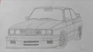 BMW M3 E30 Drawing.