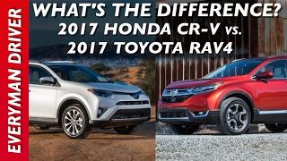 Video What's the Difference: 2017 Honda CR-V vs 2017 Toyota Rav4 on Everyman Driver download MP3, 3GP, MP4, WEBM, AVI, FLV Oktober 2018