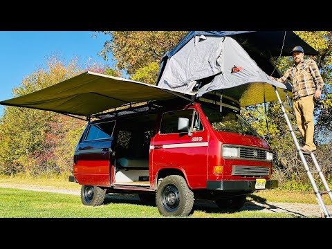 VANLIFE | Full Tour VW Syncro 4x4 Vanagon With Roof Top Tent