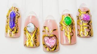 Жидкие камни + Литье(Как просто выполнять дизайны ногтей в технике жидких камней? Видео обзоры ногтевых материалов: http://youtube.com/us..., 2014-10-22T18:09:59.000Z)
