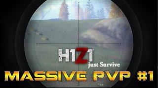 H1Z1: Just Survive Massive PvP Fight #1