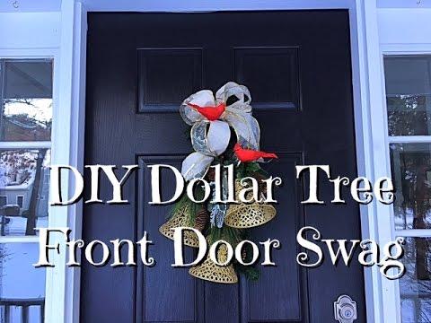 DIY Dollar Tree Bell Front Door Swag How To