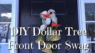 DIY Dollar Tree Bell Front Door Swag How-To