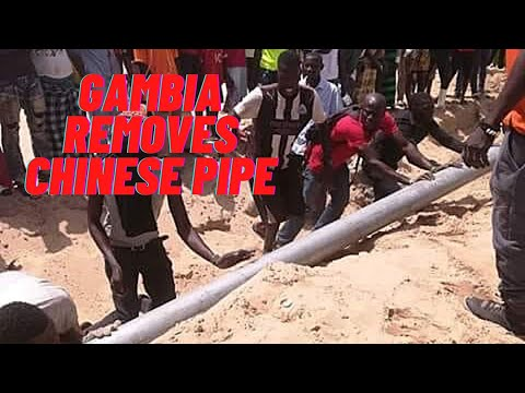 Gambian Men Remove The Last Chinese Fish Factory Pipeline With Joy