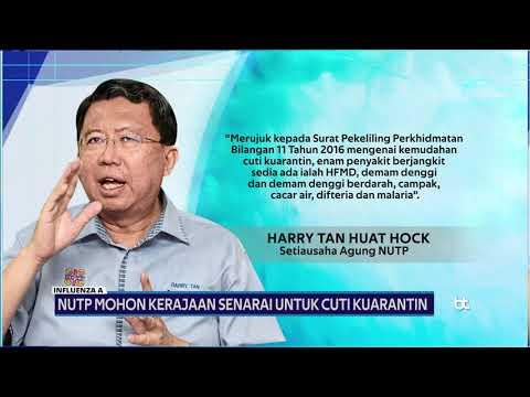 Influenza A Nutp Mohon Kerajaan Senarai Untuk Cuti Kuarantin Buletin Tv3