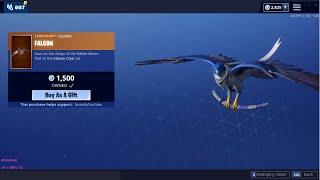 *NEW* Falcon LEGENDARY Glider! (Fortnite Item Shop Livestream)