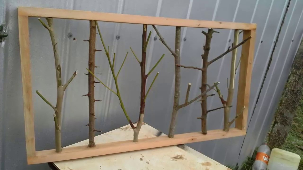 cuadros rusticos de madera con troncos de arboles - YouTube