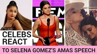 Celebrities React To Selena Gomez's Emotional AMAs Speech!