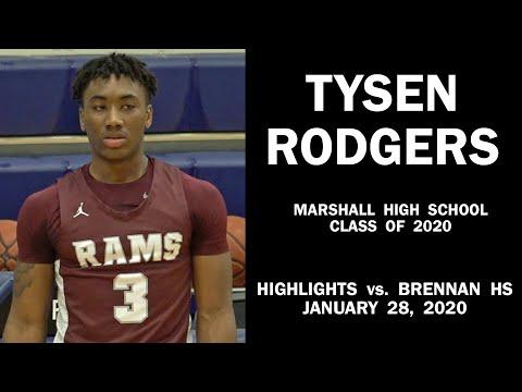 Tysen Rodgers: Basketball Highlights vs. Brennan High School