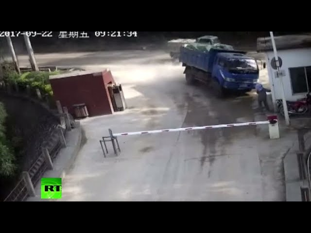 Woman miraculously survives truck ramming in China